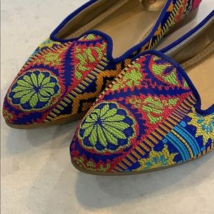 Me Too Bailey Embroidered Multicoloured Flats